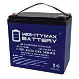Mighty Max Battery 12V 55AH Gel Replacement Battery Compatible with Minn Kota Trolling Motors Brand Product