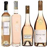 Best of Provence - Lot de 4 bouteilles - Minuty Prestige - Terre de Berne - Studio de Miraval - Esclans Whispering Angel - Côtes de Provence Rosé 2019 (4 * 75cl)