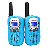 Retevis RT-388 Walkie-Talkies for Kids,Toys Walky Talky with Flashlight,22 CH,LCD,Keylock,Long Range for Boys Girls Aged 6-12,Family Outside,Adventure,Camping(Blue,2 Pack)