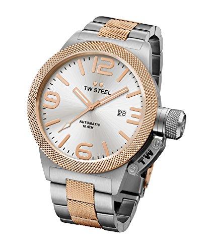 TW Steel Unisex Analog Automatisch Uhr mit Edelstahl Armband CB126