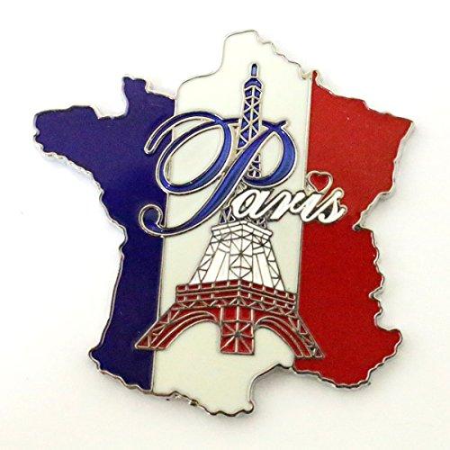 AKER Magnet Aimant frigo Cuisine Souvenir France Paris métal Cadeaux G176 4,5x4,5cm