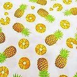 The Yard CT646 Ananas-Frucht-Baumwollstoff Gelb Ananas auf