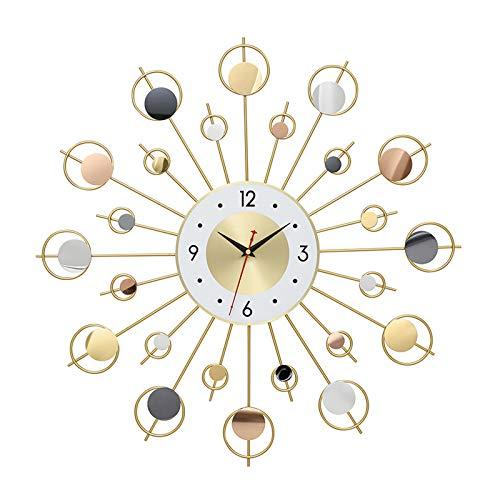 BAQI Silent Art Wall Clock, 60cm/24in Midcentury Modern Decorative Wall Clock, Stylish Starburst Wall Clock Mediterranean Creative Living Room Bedroom Wall Watch