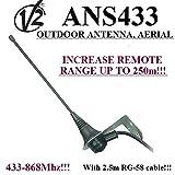 V2 Ans433 Top portata dell'antenna esterna / antenna per ricevitori di automazione cancell...