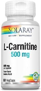 Solaray L-Carnitine 500 mg, 60 Vegetable Capsules