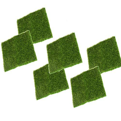Sharplace 6pcs Tapis de Gazon Décor Mousse Balcon, Piscine, Jardin, terrasse Gazon synthétique