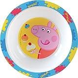 FUN HOUSE 005173 Peppa Pig-Ciotola per microonde, da Bambino, in Polipropilene, 16 x 16 x 4 cm