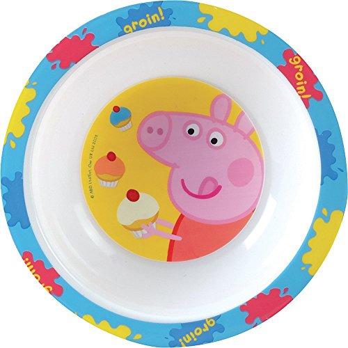 FUN HOUSE 005173 Peppa Pig Bol Micro-ondable pour Enfant, PP, Jaune, 16 x 16 x 4 cm