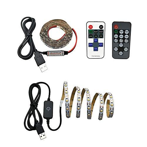 H/A Barra de luz LED táctil de alimentación USB de 5V Controlador único Blanco/Blanco cálido 2835 SMD HD TV TV computadora de Escritorio Pantalla retroiluminación AZHAA