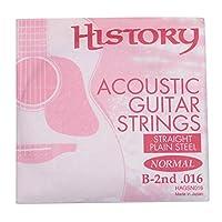 HISTORY HAGSN016 アコースティックギター弦 B-2nd .016 バラ弦1本 (ヒストリー)
