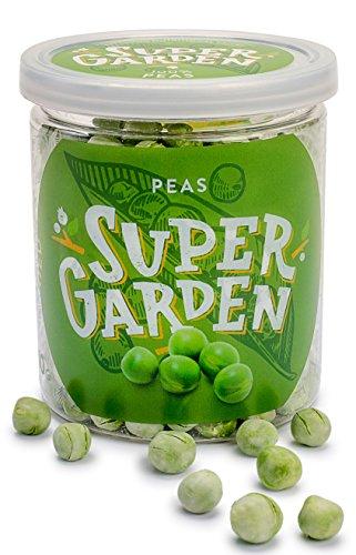 Supergarden Gefriergetrocknete Erbsen - Gesunder Snack - 100% Rein Und Natürlich - Für Veganer Geeignet - Ohne Zuckerzusatz, Künstliche Zusatzstoffe Und Konservierungsmittel