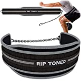 Rip Toned Dip Belt with Chain for Weightlifting, Pull...