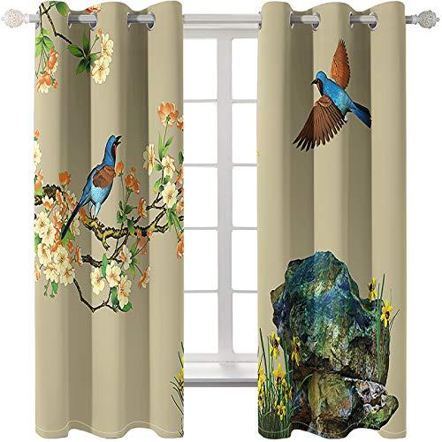 Cortinas Decorativas con Impresión En Color, Personalidad De Moda, Decoración del Hogar, Cortinas Lavables De Fibra Extrafina, 2 Piezas