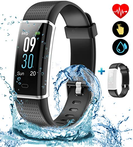 SONIXO 2021 High-End Fitness Trackers-Activity Trackers Health Exercise Watch with Heart Rate and Sleep Monitor, Smart Watch, Step Counter Calorie Counter, Pedometer Walking for Women Kids Men
