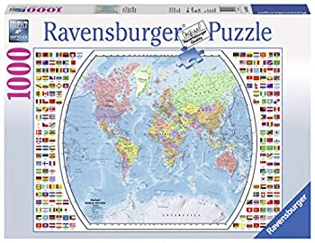 Ravensburger Political World Map 1000 Piece Jigsaw Puzzle for Adults – Every Piece is Unique Softclick Technology Means Pieces Fit Together Perfectly