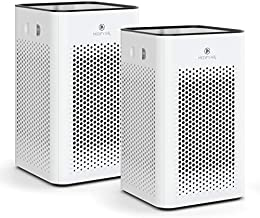 Medify MA-25 Air Purifier with H13 True HEPA Filter   500 sq ft Coverage   for Smoke, Smokers, Dust, Odors, Pet Dander   Quiet 99.9% Removal to 0.1 Microns   White, 2-Pack