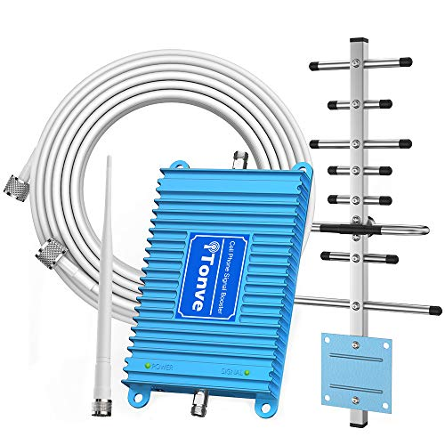 Cell Phone Signal Booster 2G 3G Band 2 and Band 5 850/1900Mhz Cell Signal Booster Cell Phone Repeater Amplifier for Home and Office,Increase Data Speed and No More Dropped Calls