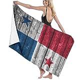 Toalla de playa grande retro de la bandera de Panamá, adecuada para hotel, piscina, gimnasio, playa, secado natural, suave y rápido L130cm x W80cm/51'Lx31' W