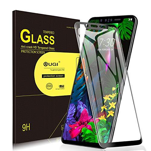 KuGi. per LG G8S ThinQ Pellicola, Vetro Temperato [Anti-Riflesso & Anti-Bolla] [Durezza 9H] Applicare Disegnato per LG G8S ThinQ Smart Phone (Nero)