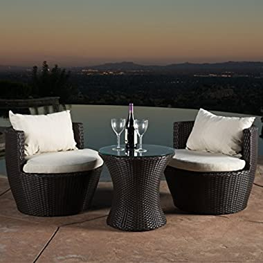 Christopher Knight Home 296323 Kyoto 3 Piece Chat Set