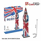 Big Ben in London 3D Puzzle British England Color by Cubic Fun