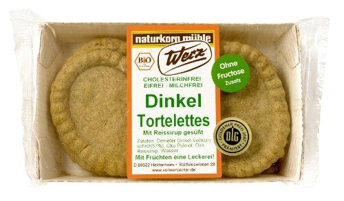 Werz Dinkel-Vollkorn-Tortelettes mit Reissirup, 3er Pack (3 x 120 g Packung) - Bio