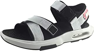 ZhaoXin Chen Sandals for Men Outdoor Shoes Gasketsole wear-Resisting Toe Hook&Loop Strap (Color : Gray, Size : 6 UK)