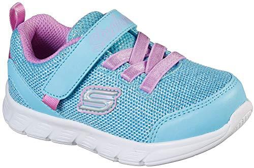 Skechers Girls Sneaker, Light Blue/Lavender,5 M US