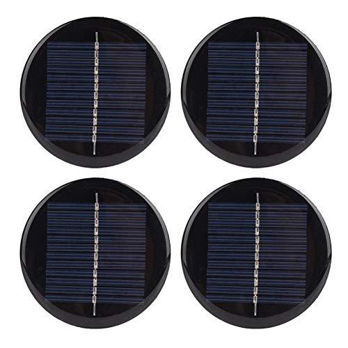BYARSS 4 stücke 6V 80mm Durchmesser Runde Tragbare stabile effiziente polykristalline Silizium Solarzellen Panel
