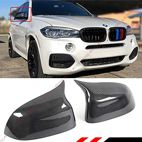 Cuztom Tuning Fits for 2014-2018 BMW F15 X5 F16 X6 X3 X4 Carbon Fiber Side Mirror Cover Caps Replacement- M Style