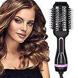 Damenie Haartrockner, Warmluftbürste 5 in 1 Upgrade Hair Dryer & Volumizer Styler, Negativer Lon Stylingbürsten Heißluftkamm Haarglätter bürste Föhnen und Stylen Heißluftbürste für alle Haartypen