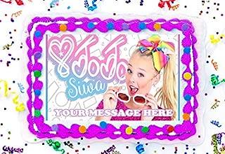 JoJo Siwa Cake Topper Edible Image Personalized Cupcakes Frosting Sugar Sheet (8
