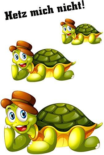 carstyling XXL Aufkleber Schildkröten Hetz Mich Nicht! 3 Stück ~ schneller Versand innerhalb 24 Stunden ~