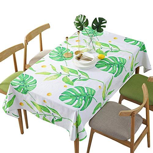 Branfan Green Leaves Tafelkleed Home Decoratie Tafelkleed Eettafel Koffie Tafelkleden Banket Meubels Stofdichte Cover Achtergrond 140x180cm