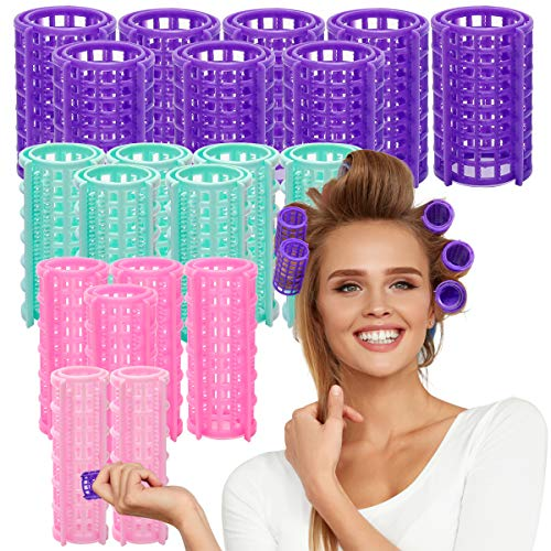 Ahier Hair Roller, 20 Pack Self Grip Roller, 4 Kinds Hairdressing Curlers for DIY or Hair Salon
