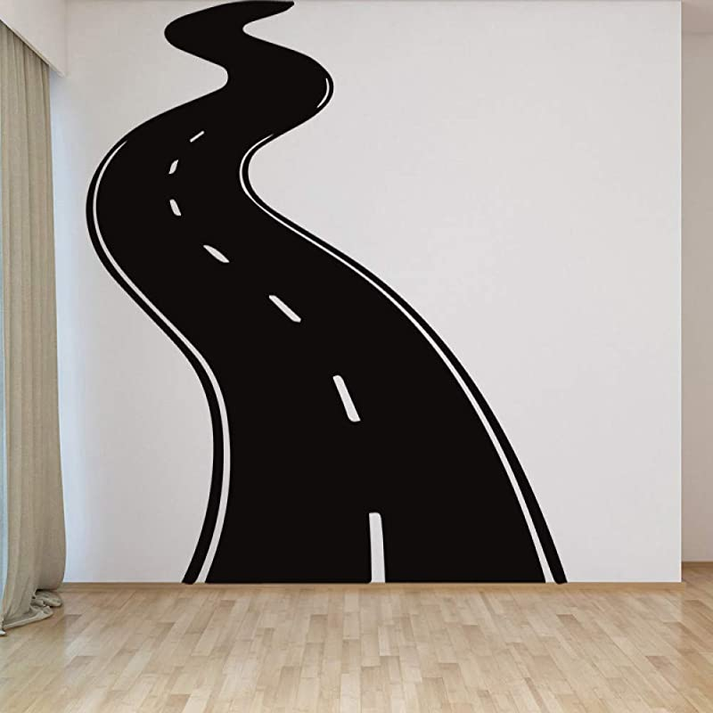 HDWPSHHY A Highway Design Wall Stickers Children S Room Vinyl Decoration Wall Stickers Home Decor Living Room Removable Sticker Mural