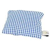 Lavendelkissen blau/weiß kariert - Bezug aus 100% Baumwolle - Lavendel Duftkissen 10 x 10 cm -...
