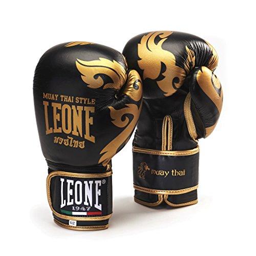 Leone 1947 Muay Thai Boxhandschuhe, Schwarz, 10 Uz