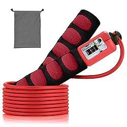 Springseil, SZPLUS verstellbares Springseil mit sichtbares Zählwerk und komfortablen Griffe für Seilspringen, CrossFit und Fitness (Rot)