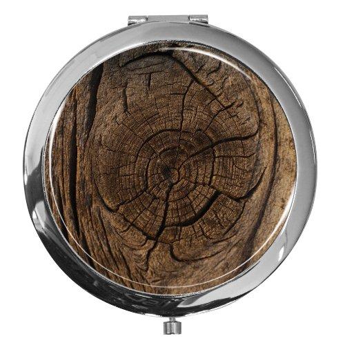metALUm Premium - Miroir de Poche en métal chromé avec Un Beau Motif d'arbre et Une Couche de résine synthétique Noble et Brillant - Un Accessoire idéal pour Toute Femme ou Un Cadeau Extraordinaire
