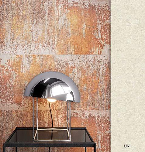 NEWROOM Tapete Orange Eisen Blech Vintage Vliestapete Grau Vlies moderne Design Optik Metalltapete Eisentapete Metall Optik Loft inkl. Tapezier Ratgeber