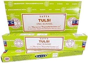 Satya Tulsi Incense Sticks - 180 Grams - Premium Quality - Bulk Box