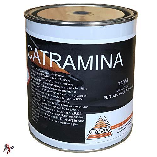 Catramina bituminosa liquida impermeabilizzante protettiva nera 750 ml