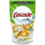 Cascade Actionpacs Dishwasher Detergent, Citrus Scent, 32-Count