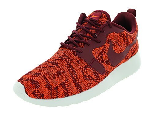 Nike Damen Roshe Run Strick Jacquard Niedrig Trainer - Total Orange Team Rot Segel 800, 37.5