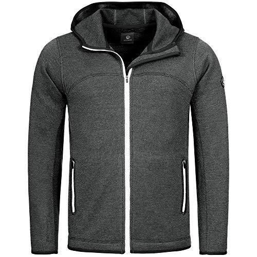 GIESSWEIN Sport Jacke Sven - Merino Woll Jacke, Funktionsbekleidung für Männer, Sportkleidung für Herren, atmungsaktive Kleidung, leichte Herrenjacke mit Kapuze