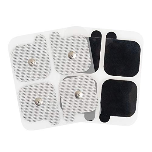 AccuRelief Universal TENS Unit Supply Kit - TENS Unit Pads and Lead Wires - for AccuRelief Single and Dual Channel TENS Devices and TENS Units with Snap Electrodes, 8 Sets of 2(16 Count) Electrodes