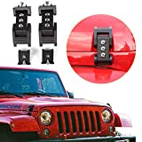 RT-TCZ Hood Latches Hood Lock Catch Latches Kit Anti-Theft for Jeep Wrangler
