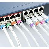 AIXONTEC 100 Kabeletiketten Wickeletiketten Kabel Label Mehrfarbig beschriften Kabelmarker bunt 20 Etiketten pro Kabeletikettbogen selbstklebend Datenkabel Organizer