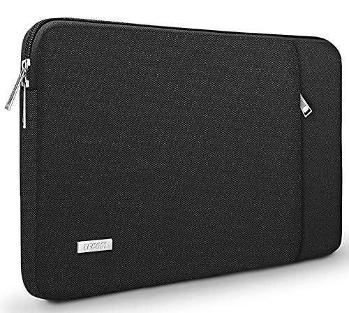 TECOOL Funda Portátil de 13 Pulgadas, Bolso Protectora Acolchada Funda Blanda para 2018-2020 MacBook Air/Pro 13(M1), 12,3'' Surface Pro 7/6/5, Huawei Matebook 13, 12,4 Surface Laptop Go, Negro